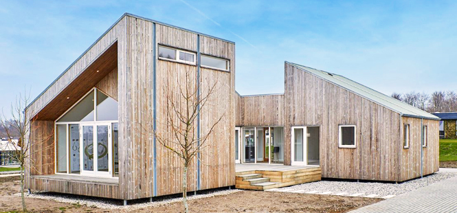 The first biological house built with materials from agricultural residues