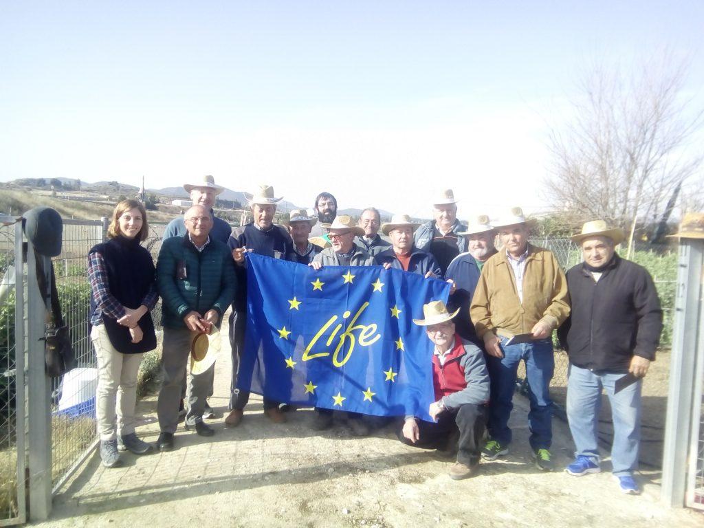 Visita del proyecto a los Microhuertos municipales de Bullas