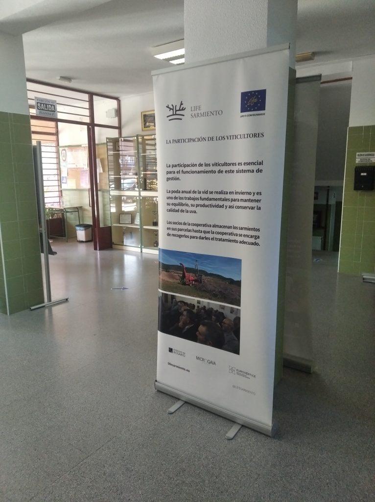 LIFE SARMIENTO closes its last year with its traveling exhibition at IES Los Cantos de Bullas